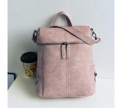 Женский рюкзак-сумка розового цвета