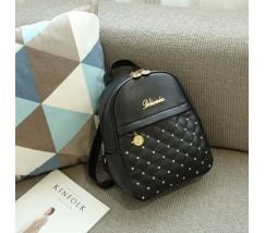 Женский черный рюкзак кожзам