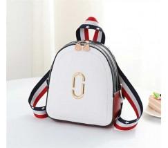 Маленький модный рюкзак белый