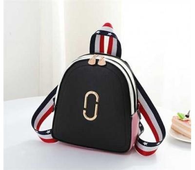 Маленький модный рюкзак черный