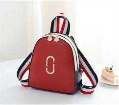 Маленький модный рюкзак красный