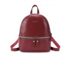 Маленький женский красный рюкзак