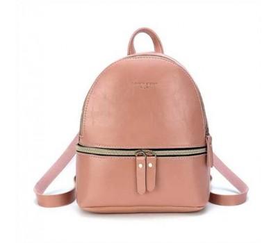 Маленький женский розовый рюкзак