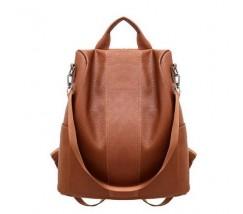 Женский мягкий рюкзак коричневый