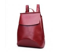Рюкзак-сумка з якісної екошкіри червона
