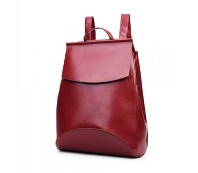 Рюкзак-сумка с качественной экокожи красная