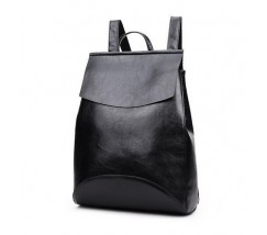 Рюкзак-сумка з якісної екошкіри чорна