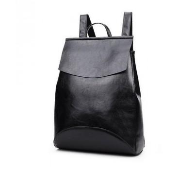 Рюкзак-сумка с качественной экокожи черная