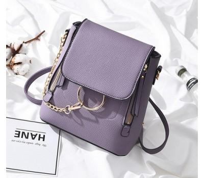 Качественный женский рюкзак-сумка фиолетовый