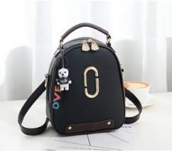 Женский мини рюкзак-сумка черный