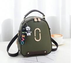Женский мини рюкзак-сумка зеленый