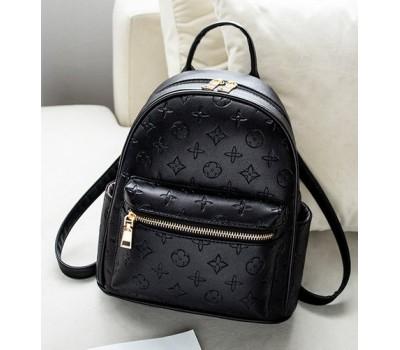 Женский рюкзак в стиле Луи Витон черный