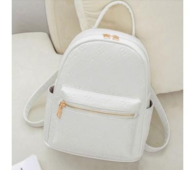 Женский рюкзак в стиле Луи Витон белый