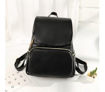 Женский стильный рюкзак черный