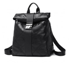 Необычный женский рюкзак черный
