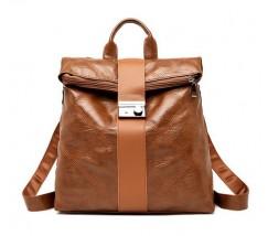 Незвичайний жіночий рюкзак коричневий