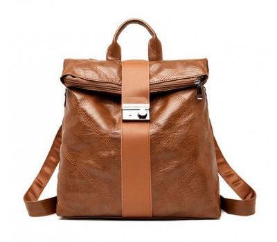 Необычный женский рюкзак коричневый