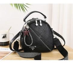 Маленькая женская сумка-рюкзак Prada черная