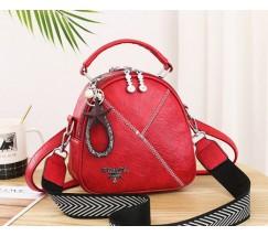 Маленькая женская сумка-рюкзак Prada красная