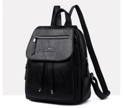 Качественный рюкзак с экокожи черный