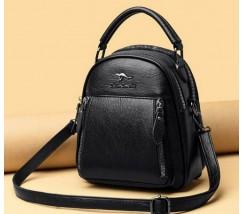 Женский рюкзак-сумка трансформер черный