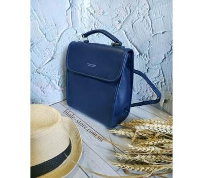 Каркасный женский рюкзак синий