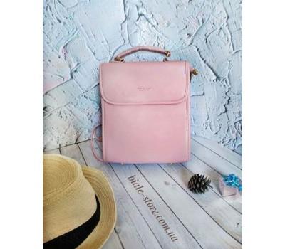 Каркасный женский рюкзак розовый