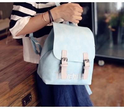 Модный женский рюкзак голубой