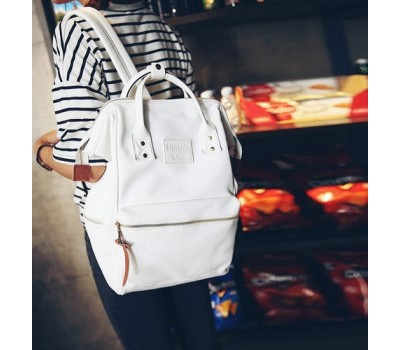 Большой женский рюкзак-сумка белый