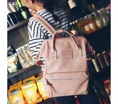 Великий жіночий рюкзак-сумка рожевий