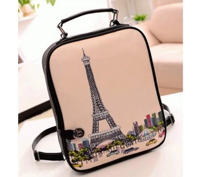 """Стильный рюкзак с рисунком """"Париж"""""""