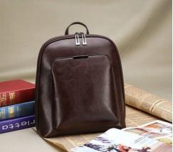 Классический рюкзак женский темно-коричневый