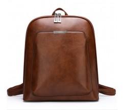 Классический рюкзак женский светло-коричневый