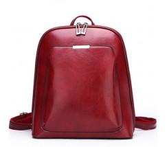 Классический рюкзак женский красный