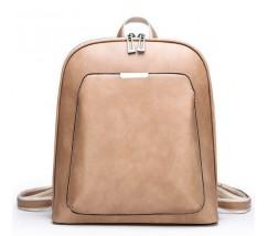 Классический рюкзак женский бежевый