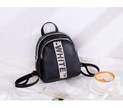Маленький стильный рюкзак черный