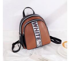 Маленький стильный рюкзак коричневый