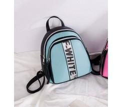 Маленький стильный рюкзак голубой