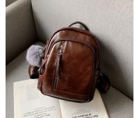 Качественный женский рюкзак коричневый