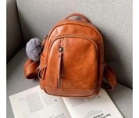 Качественный женский рюкзак светло-коричневый