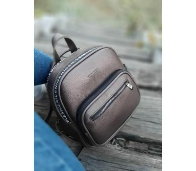 Рюкзак-сумка из экокожи бронзовый