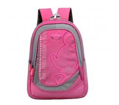 Большой школьный рюкзак розовый