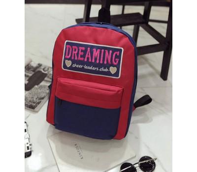Большой тканевой рюкзак красный