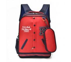Рюкзак в виде кофты красный