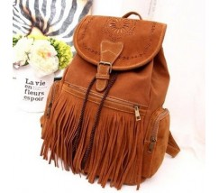 Замшевый рюкзак с коричневый