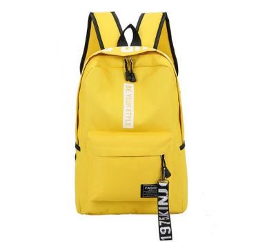 Місткий рюкзак з тканини жовтий