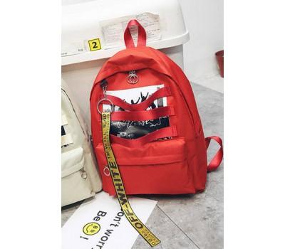 Стильный тканевой рюкзак красный