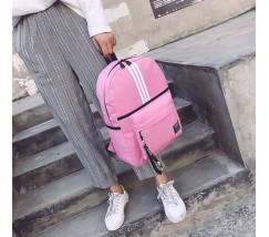 Спортивный тканевый рюкзак розовый