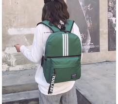 Спортивный тканевый рюкзак зеленый