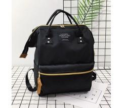Большой рюкзак-сумка черный